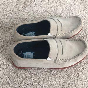 Boys Creme color size 13 1/2 suede dress shoes